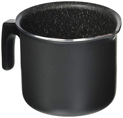 Carrefour Home 0011646530 Sartén honda - Cacerola (Sartén honda, Negro, Acero inoxidable, Aluminio, Gas, Inducción, 390 mm, 215 mm)