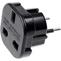 OcioDual Adaptador Enchufe UK Ingles Reino Unido a Europeo UE Universal Adapter Corriente