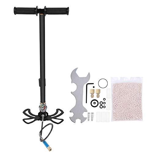 Keen so Tauchen Hochdruck-Handpumpe, Hochdruck-Luftpumpe für Sauerstoffflaschen mit Manometer Tauchzubehör Schwarz(S)