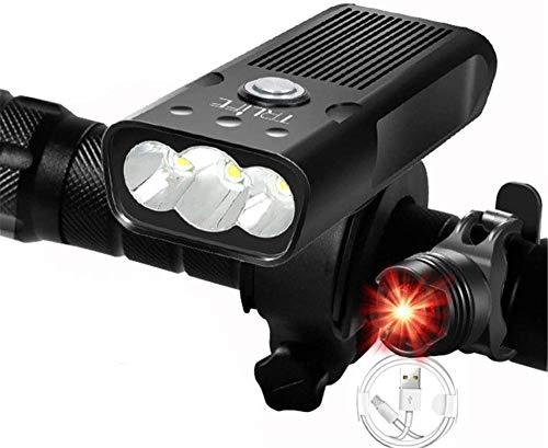 Luz de Bicicleta, luz de Faro de 3000 lúmenes Recargables U