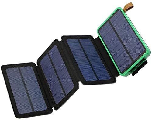 MEETGG Banco de energía solar, cargador de banco de energía plegable, banco de energía al aire libre con linterna LED, adecuado para su uso en teléfonos inteligentes y tabletas, B