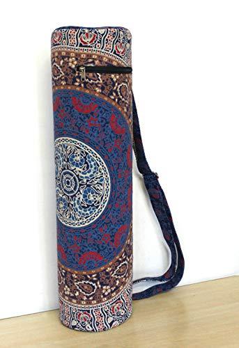 Indian Craft Castle Sac de Transport avec bandoulière pour Tapis de Yoga Motif château Indien