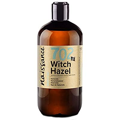 Naissance Distilled Witch Hazel Liquid (no. 702) 500ml - Pure, Natural, Cruelty Free, Vegan - Cleansing & Toning - Ideal for Aromatherapy, Skincare and DIY Beauty Recipes