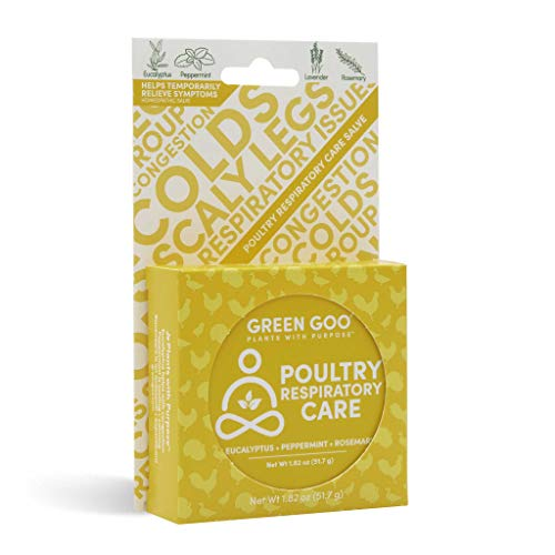 GREEN GOO All Natural Poultry Respiratory Care, 1.82 oz, Large Tin