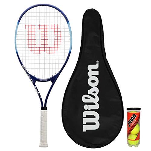 Wilson Tour Slam Lite - Raqueta de tenis con cubierta completa y 3 pelotas de tenis