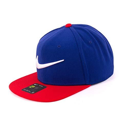 Nike U Nk Pro Cap Swoosh Classic - deep royal blue/university red, Größe:-