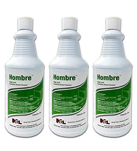 Hombre High Acid Emulsion Bowl Cleaner Qt [SET OF 3]