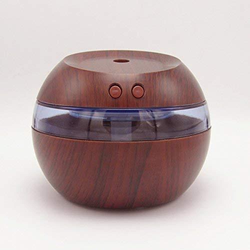 GFF Humidificador d'aire Humidificador d'Oficina Domèstica Mini USB, 10 10 10 8,5 cm, gra lleuger de fusta