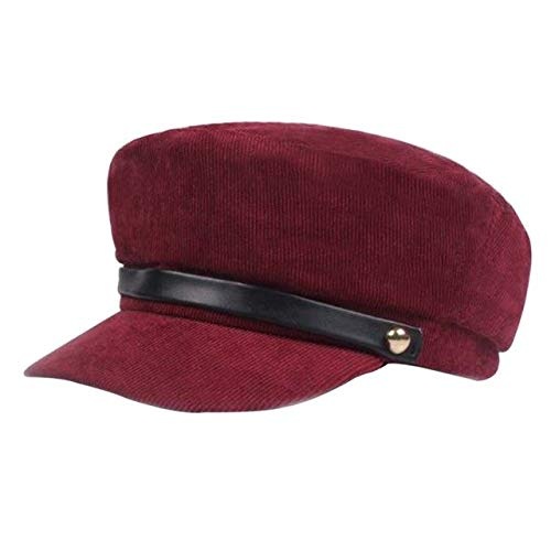 HATCHMATIC Mode Corduroy Hüte Frauen-Dame Girl Sun-Masken-Hut britischen beiläufige Art Cotton Sonnenschutz Octagonal Cap for Lovers: JR, USA