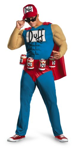 The Simpsons Herren Classic Costumes, Duffman, XL