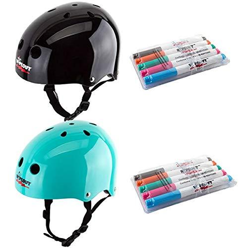 Triple8 トリプルエイト ヘルメット 子供用 WIPEOUT SK8 DAY ERASE(49-52cm) キッズ ジュニア インライン&スケートボード ヘルメット TEAL