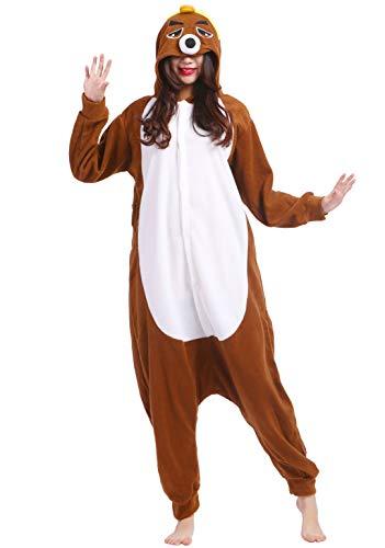 Kigurumi Pijama Animal Entero Unisex para Adultos con Capucha Cosplay Pyjamas Topo Ropa de Dormir Traje de Disfraz para Festival de Carnaval Halloween Navidad