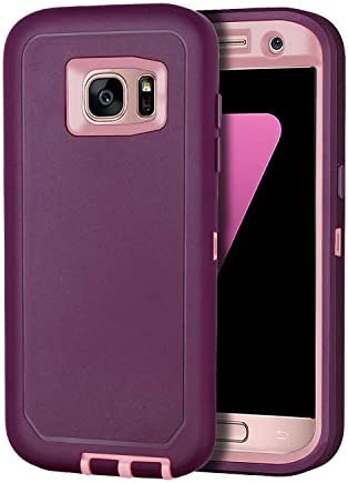 I HONVA for Galaxy S7 Edge Case Shockproof Dust Drop Proof 3 Layer Full Body Protection Without product image