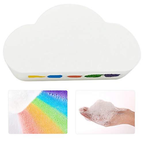 Regenbogen Badebombe Wolke, ZoneYan Regenbogen Badesalz, Organische Badebomben, Badebombe Bunt, Regenbogen Badebomben Geschenkset für Kinder, Befeuchten Sie Trockene Haut