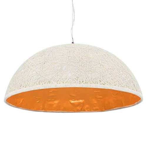 vidaXL Lampe Suspendue Plafonnier Luminaire d'Intérieur Eclairage d'Intérieur Salon Salle de Séjour Chambre à Coucher Maison Blanc et Doré 70 cm