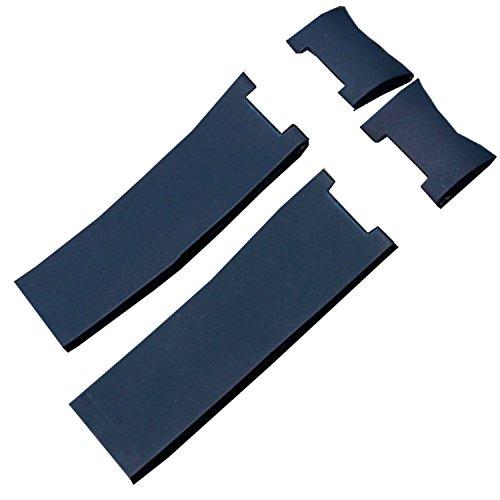 Correa de goma de 22 mm para reloj Ulysse Nardine Marine Driver, azul