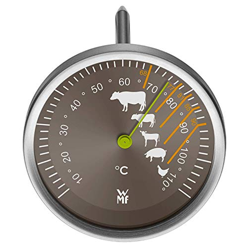 WMF Scala meat thermometer with gradations for the recommended core temperature for beef, veal, lamb, pork and poultry