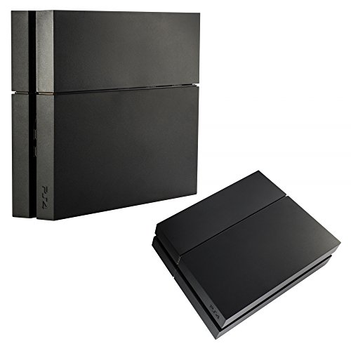 eXtremeRate Solid Matte Black HDD Bay Hard Drive Cover Shell Case Replacement Faceplate for PS4...