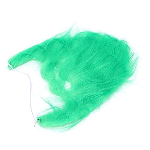 01 Bigote De Disfraz De Cosplay, Bigotes Falsos Verdes para Fiesta De Halloween para Mujeres para Hombres para Accesorios De Cosplay