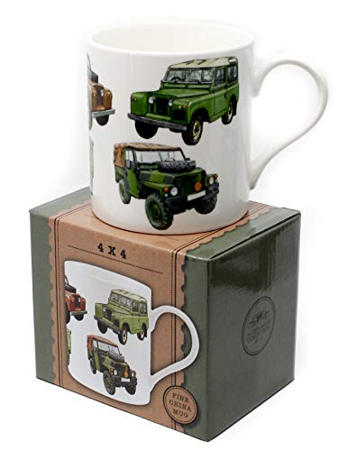 Classic 4 x 4 Collection Fine China Mug Gift Boxed by The Leonardo Collection