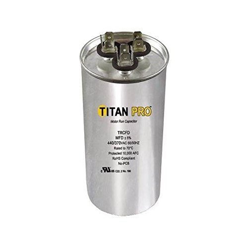 Titan TRCFD455 Dual Rated Motor Run Capacitor Round MFD 40+5 Volts 440/370