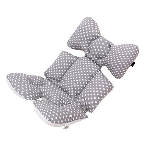 SM SunniMix Cojín para Sillas de Bebé Cojín Acolchado para Cochecito de Bebé Carritos Asientos Universal con Soporte de Cabeza - Punto