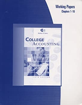 Paperback College Accounting: Working Papers: Chapters 1-16 Book