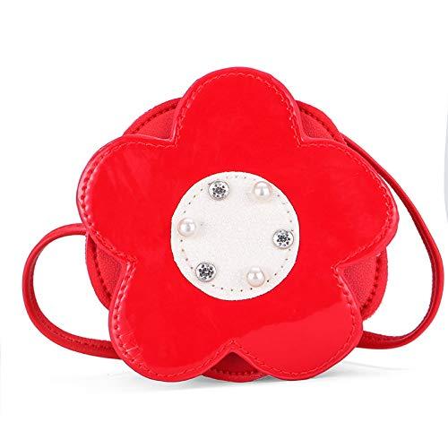 FREEMLLittle fiori rivetti asilo ragazza borsa tracolla tendenza borsa forma tendenza forma concava