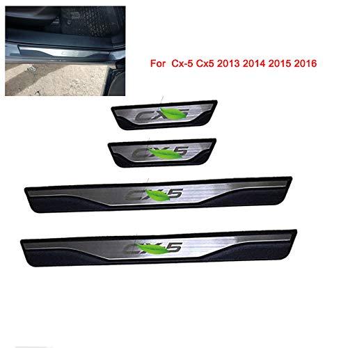 Edelstahl Einstiegsleisten Für CX-5 cx5 TürSchwellen door sill Platte tragen zubehör