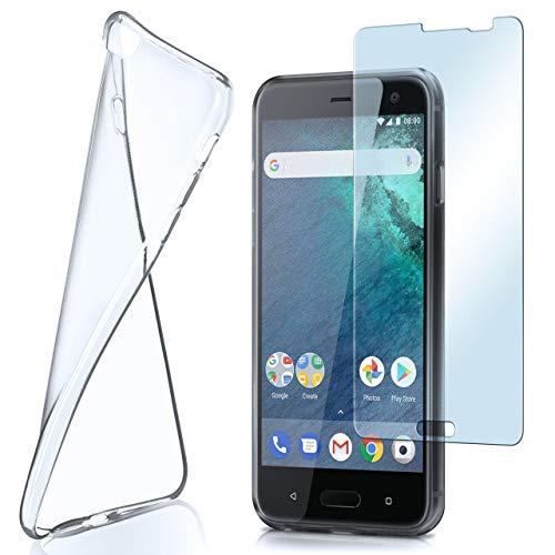 moex Aero Hülle mit Panzerglas für HTC U11 Life - Hülle mit Schutzfolie, transparent - Crystal Clear