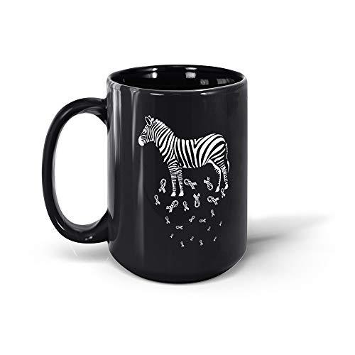 TALOGEM COFFEE MUG Ehlers Danlos Syndrome Awareness Gifts Zebra Colorful For Men Women 200327 15oz Black Mug