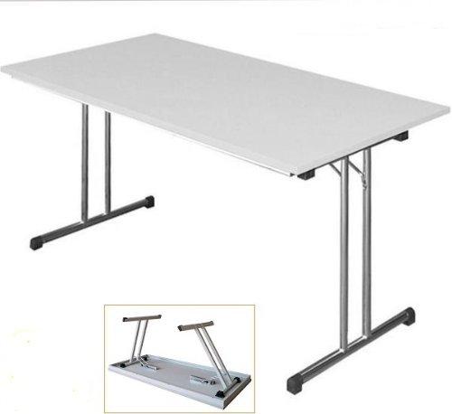 KLAPPTISCH Besprechungstisch Kantinentisch Verkaufstisch Schreibtisch 140x80 grau/chrom 350610