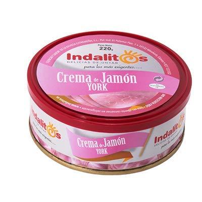 Indalitos - Crema de Jamón York - Caja 6 Bandejas de 5 Latas 220 g