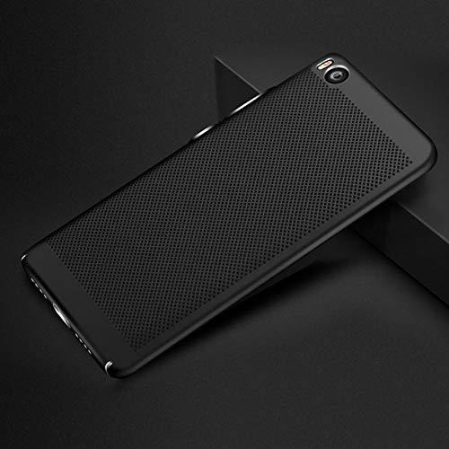 ZFLL Funda para teléfono móvil Funda para Funda de teléfono para Xiaomi Mi5 Mi5s Plus 360 Protection Hollow Slim Matte Hard Back Cover Cases-para Xiaomi Mi5S-Negro