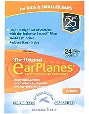 EarPlanes Original Earplugs for Children/Smaller Ears, Pressure Filtering Protection for Airplane Travel (1 Pair)