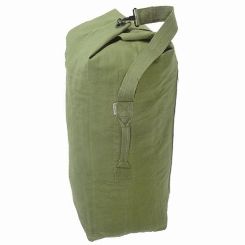 HEAVY DUTY MILITARY GREEN CANVAS ARMY KIT BAG HOLDALL caaebcefd4e5e