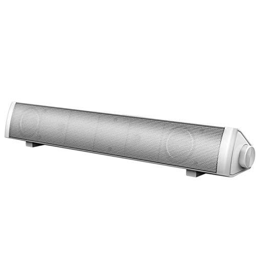 Barras de Sonido Altavoces De La Computadora con Cable De Sonido Bar Estéreo USB Alimentado con HiFi Rico Bajo Fácil de Ajustar (Color : White, Size : One Size)