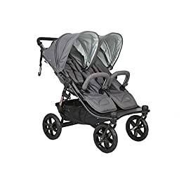 Valco Duo X Double Stroller in Dove Grey