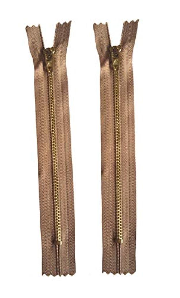 Vodeus #4 Color Gold Metal Teeth Closed Bottom 16cm Zippers 2 pcs