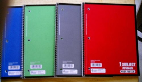 1 Subject Notebook 70 Sheets - Package of 3