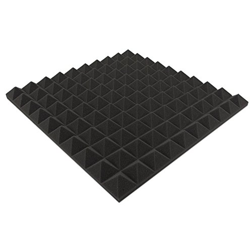 Gomaespuma piramidal Dibapur 1unidad aprox.490mm x 490mm x 40mm, gomaespuma acústica de aislamiento para estudio de grabación