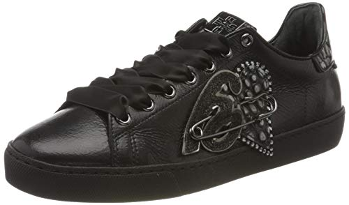 Högl Damen HEART BEAT Sneaker, Schwarz (Schwarz 0100), 38 EU