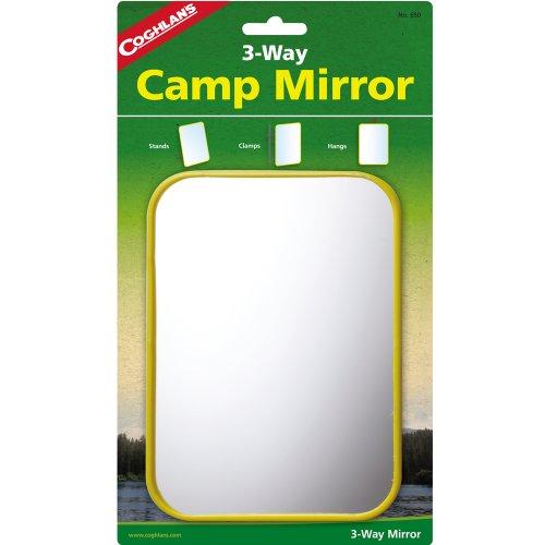 Coghland's Trekkingspiegel zum höngen, stehen oder befestigen, 12,7x17,8 cm: Kosmetikspiegel Tisch Reise Spiegel Schminkspiegel Rasierspiegel Klappspiegel