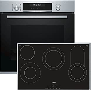 Bosch hbd672ls80 Ceramic Oven Electric Kitchen Appliances Kitchen Appliance - Sets Sets (Ceramic, Glass and Ceramic, Black, 2100 W, Touch, 79.5 cm):Wenstyle