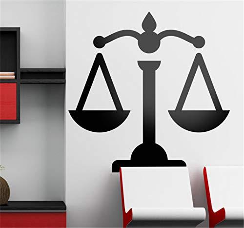 pegatina de pared pegatina de pared 3d Balanza de la etiqueta de la pared de la justicia para el dormitorio de la sala de estar