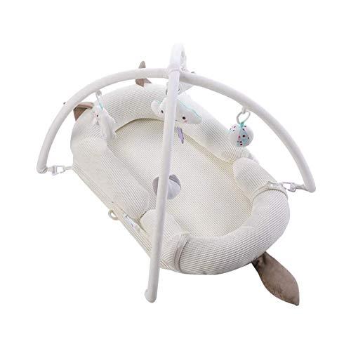 WJMLS Portátil Neonatal uterino Bionic Cama, Super Suave y Transpirable bebé Nido Lavable a máquina Co Dormir for el bebé 0-2 años, Estructura de colchón de látex + Juguete