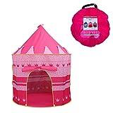 Newin Star Kinder Zelt Spiel-Zelt Besonders für Mädchen Faltbare Pop Up Rosa Spielhaus für Indoor...