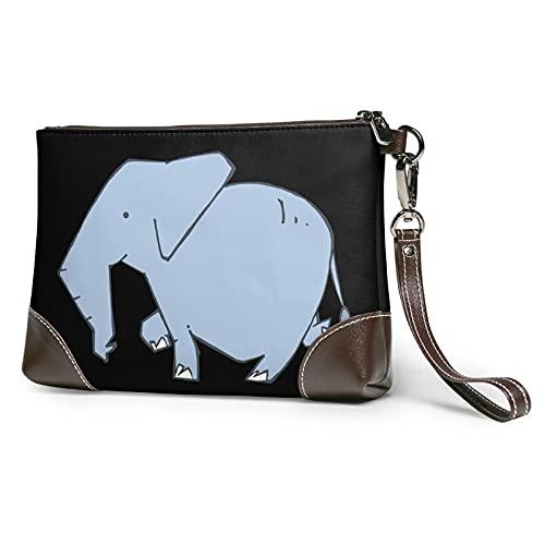 MGBWAPS Elephant on a walk Embrague, bolso de mano de cuero, bolso de cosméticos, bolso de mano de embrague, Como se muestra, Talla única