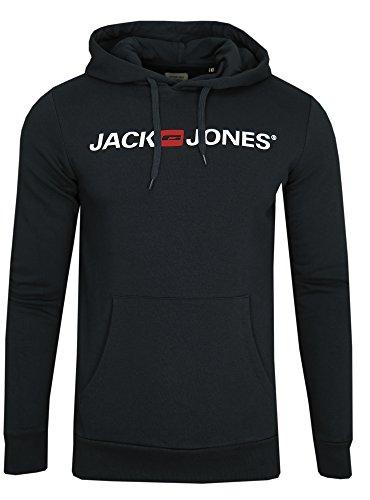 JACK & JONES Herren Hoodie Kapuzenpullover Sweatshirt Pullover Sweater (M, Color 1)