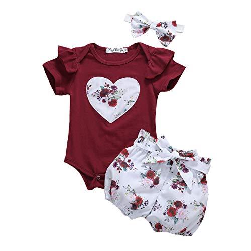 L&ieserram Vestido completo para niño recién nacido de tres piezas de mono,...